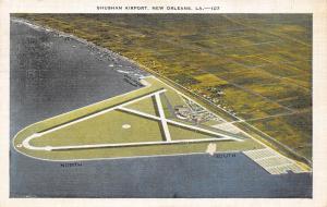 New Orleans Louisiana~Aerial View Shushan Airport~Land & Seaplane Airport~1937
