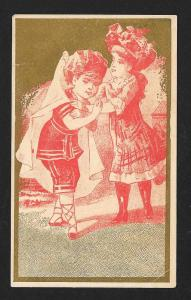 VICTORIAN TRADE CARD Peerless Washing Compound Children