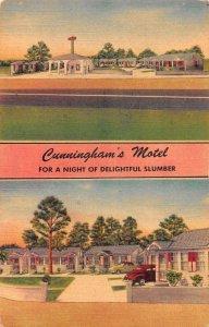 Pass Christian Mississippi Cunningham's Motel Vintage Postcard AA16692