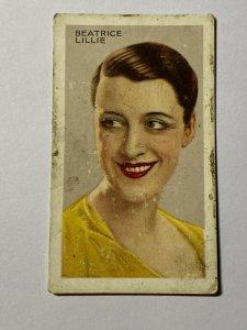 CIGARETTE CARD - PARK DRIVE STARS #36 BEATRICE LILLIE     (UU80)