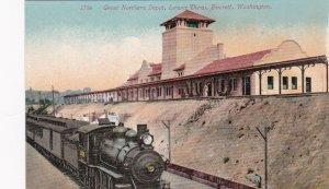 Washington Everett Train At The Great Northern Railway Depot sk3434