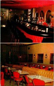 1969 Postale Flrorida Miami Plage Fl Abby's Monde Célèbres Restaurant Intérieur