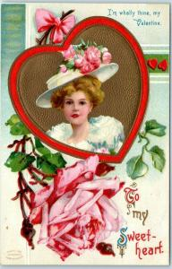 Artist-Signed ELLEN CLAPSADDLE Postcard Valentine's Day To My Sweetheart 1910s
