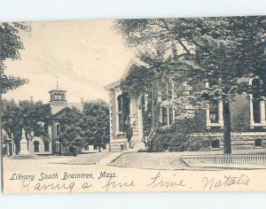 Pre-1907 LIBRARY Braintree - Boston Massachusetts MA A3185