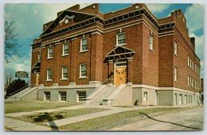 Bolivar Missouri~First Baptist Church Close Up~Gravel Drive~1964 Postcard