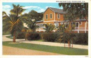 Everglades Florida Rod And Gun Club Exterior Vintage Postcard KK307