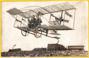 RPPC-Colorado Springs, Colo., Silly airplane over Pikes Peak, 1910's
