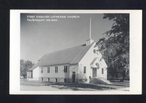 RPPC FAIRMOUNT NORTH DAKOTA ENGLISH LUTHERAN CHURCH REAL PHOTO POSTCARD