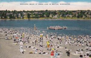 Washington Seattle Municipal Beach At Green Lake 1948
