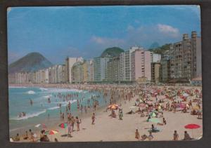 Copacabana Beach, Rio De Janeiro, Brazil - Used 1968 - Corner Wear