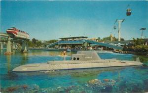 Anaheim California Amusement Disneyland Postcard Submarine ride 3404