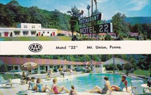 Motel 22 With Pool Mount Union Pennsylvania