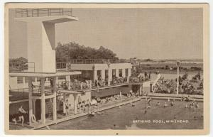 Somerset; Bathing Pool, Minehead PPC By Excel, Unposted, c 1930's