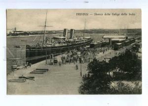 190273 ITALY BRINDISI ship landing of Indian Vintage postcard