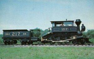 Davis Camel 1873 Baltimore & Ohio Museum Train Railroad Vintage Postcard
