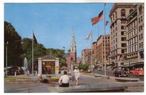 Boston, Massachusetts, Tremont Street Mall And Park Street Church