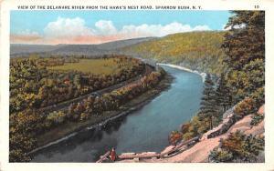 Delaware River Sparrowbush, New York Postcard