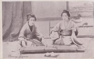 Sunny Japan Musical Instruments Instrument Vintage Japanese Postcard