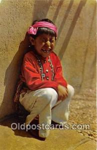Five Year Old Hopi Boy Color Courtesy Santa Fe Railway Postcard Post Cards Co...