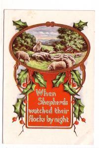 When Shepherds Watch Their Flocks by Night, Embossed Christmas