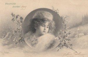 M.M.VIENNE : Child Head Portrait by Wichera , 1908