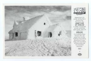 RP pc of Snow Covered Lodge Mt. Spokane near Spokane Washington WA