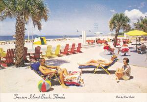 FLORIDA, PU-1982; Sunbathing In Florida On Treasure Island