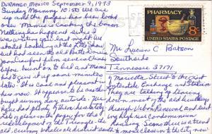 RP: MEXICO, PU-1973; Monumento A La Bandera Al Fondo La Ciudad De Durango