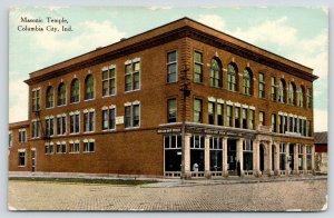Columbia City Indiana~Masonic Temple~Hudson Dry Goods Store~Dress Mannequin~1909