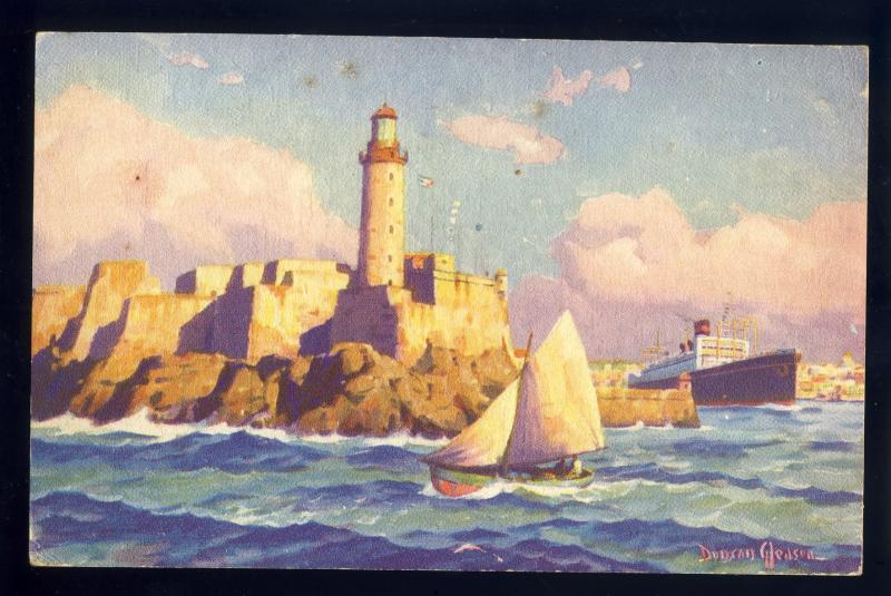 Havana/Habana, Cuba Postcard, Morro Castle, SS President Postcard, Lighthouse?