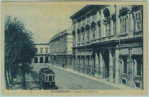95986  - CARTOLINA d'Epoca - ALESSANDRIA citta' -  PALAZZO PREFETTURA Tram 1929