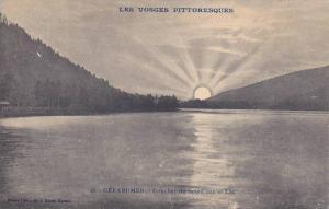 GERARDMER, Couchet du Soleil sur le lac, Vosges, France, 00-10s