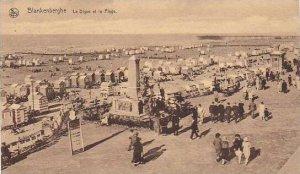 Belgium Blankenberge La Digue et la Plage 1923