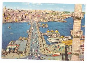 Galata Bridge Istanbul Turkey Boats Ship 1978