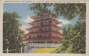 Pennsylvania Reading Pagoda At Top Of  MT Penn 6000 Feet Above Sea Level