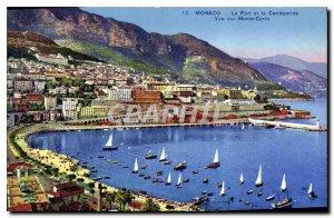 Postcard Old Port Monaco and Condamine views of Monte Carlo