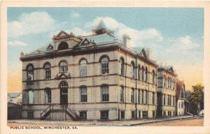 C64/ Winchester Virginia Va Postcard c1910 Public School Building