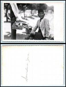 INDONESIA? RPPC Photo Postcard - Man With Hat BP