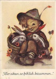 Hummel; Kid & Rabbits , 40-50s