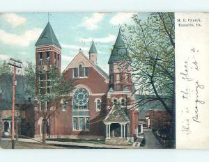 Divided-Back CHURCH SCENE Towanda Pennsylvania PA L6224