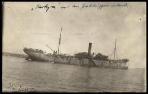 Germany WWI Turkey Navy Cover RPPC  Dampfer Steamer Kerkyra 83762