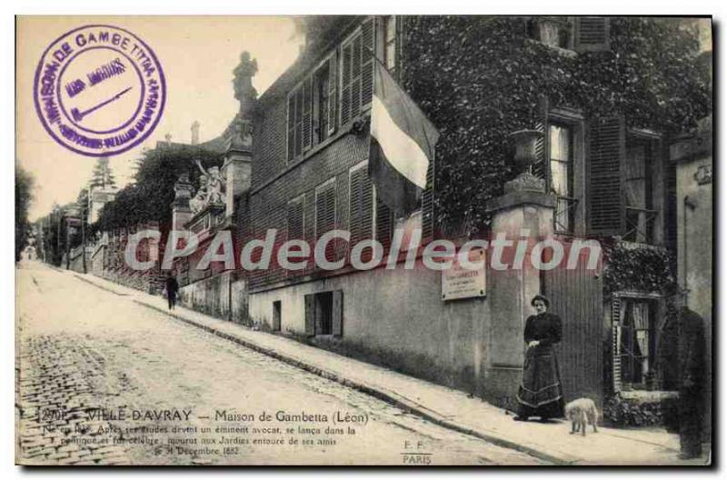 Postcard Old House Ville D'Avray From Gambetta