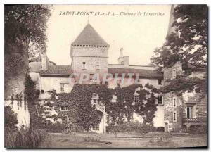 Postcard Old Saint Pon S and L Chatea Lamartine