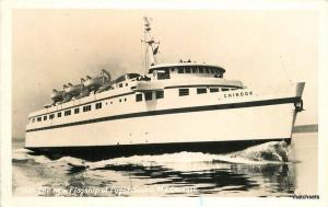 1940s Seattle Flagship Puget Sound Ferry MV Chinook Real Photo RPPC  4275