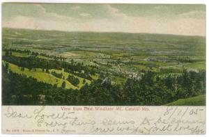 East Windham to Rainbow Lake, New York, 1905 used Postcard, Catskill Mountains
