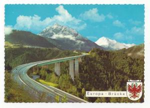 Austria Europabrucke Tirol Tyrol Europa Bridge Alps Vtg 4X6 Postcard