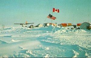 Alaska AIDJEX Camp Big Bear Floating Ice Station April 1975