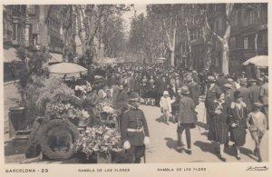 RP: BARCELONA , Spain, 1920s , Rambla de las Flores