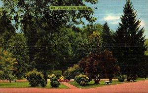 Pennsylvania Honesdale Scene In Uptown Park
