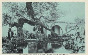 TIJUANA HOT SPRINGS, Mexico, 1920s; Estanque De Agua Y Casa, Hotel Agua Caliente